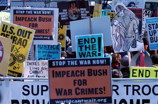 tens of thousands protest war in DC