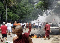 violent crackdown launched in myanmar