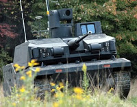 army's robotic, armed combat vehicle rolls out