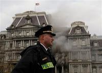 white house compound catches on fire