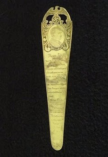 hitler's bookmark surfaces in federal bust