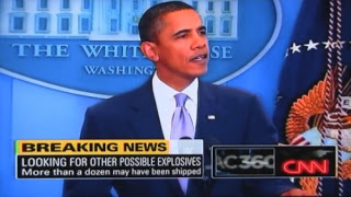 manufactured toner bomb hysteria to revive obama's war of terror