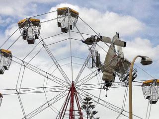plane hits ferris wheel in australia; no one injured
