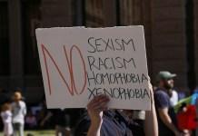 No to Sexism Racism Homophobia Xenophobia