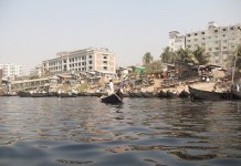 Buriganga River in Dhaka, Bangladesh