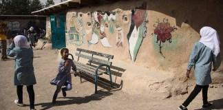 Beduin school in Khan al-Ahmar