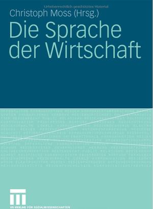 Christoph Moss Sprache Wirtschaft Buch