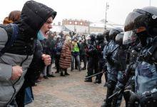 احتجاجات روسيا .. مصدر الصورة (بي بي سي)