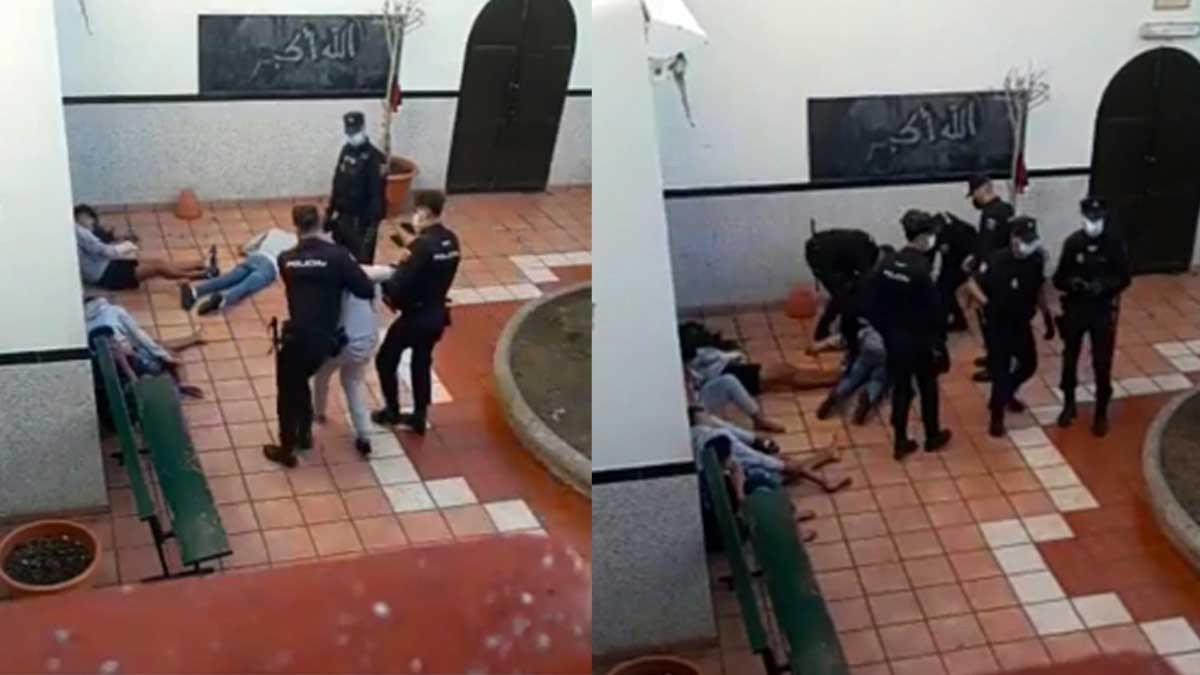 الشرطة الإسبانية.. تعتدي بالضرب على مراهقين داخل مسجد