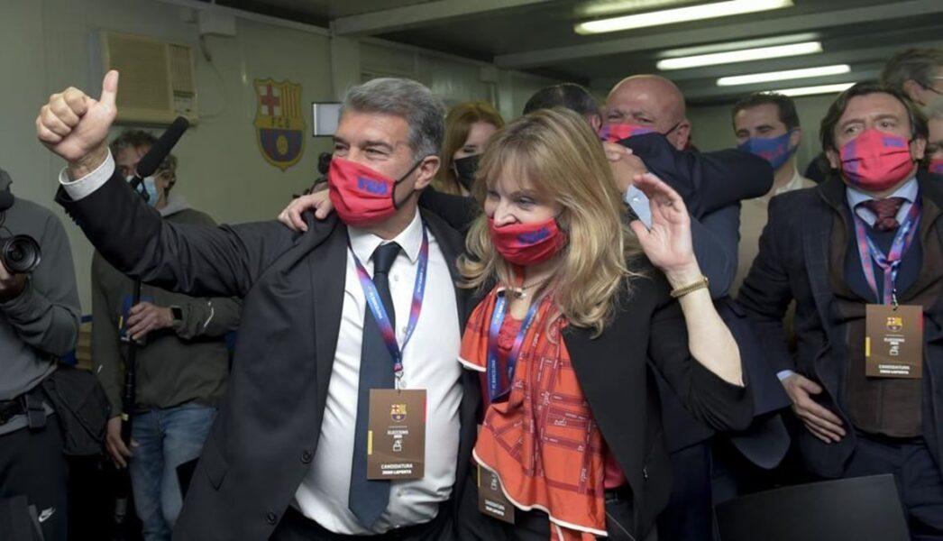لابورتا رئيساً لنادي برشلونة للمرة الثانية