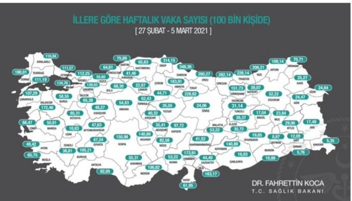 خريطة كورونا