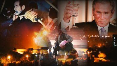 """يصادف اليوم 9 من نيسان ذكرى سقوط العراق، في يد القوات الأمريكية، تحت مزاعم امتلاك """"صدام حسين"""" الرئيس العراقي، الراحل أسلحة دمار شامل."""