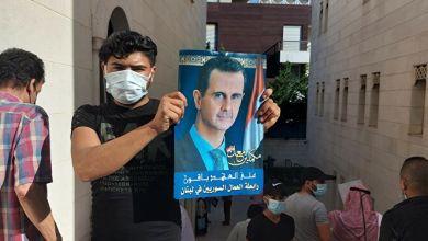 تحطيم متاجر السوريين في لبنان المشاركين في انتخابات الأسد