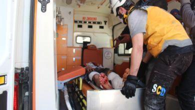 مقتــ.ل مدني وإصابة 10 أخرين من بينهم طفلان بقصف النظام على إدلب