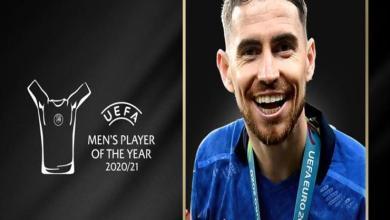 """تتويج الإيطالي """"جورجينيو"""" بجائزة أفضل لاعب أوروبي عن موسم 2021"""