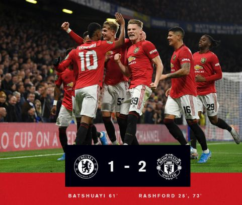 Chelsea vs Man United 1-2