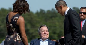 Michelle Obama Cancels Two Book Tour Events To Attend George H.W. Bush's Funeral