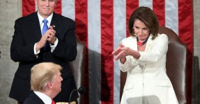 Nancy Pelosi's Literal Clap-Back At Trump Is The Most Iconic Moment Of The Night