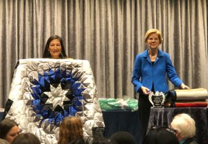 Elizabeth Warren Makes Surprise Appearance At Native American Conference