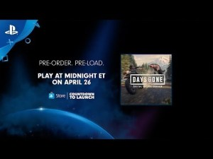 Countdown to the Launch of Days Gone Tonight