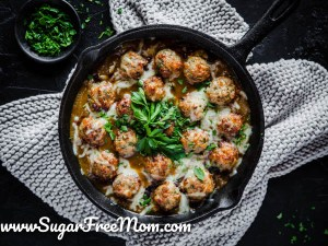 Low Carb French Onion Meatballs (Gluten Free, Keto)