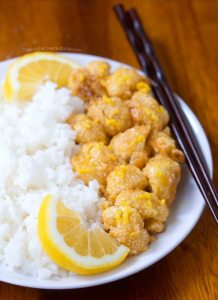 Sticky Lemon Cauliflower