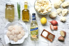 Summer Dairy-Free Cauliflower Soup with Scallops & White Cooking Wine
