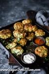 Keto Halloumi Zucchini Balls (Nut Free, Gluten Free)
