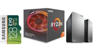 ET Deals: AMD Ryzen 7 2700X $199, Samsung Evo 128GB MicroSDXC $19, Dell XPS Intel Core i9-9900 Desktop $854