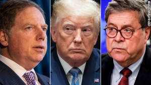 The President has fired the powerful US attorney after he refused to step down, Attorney General Barr says. But Trump says he wasn't involved with the decision.