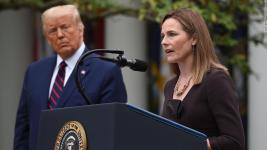 President Trump selects the conservative federal appeals court judge to succeed Ruth Bader Ginsburg on the bench