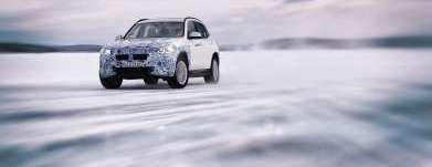The BMW iX3 undergoes winter trial tests (03/2019).