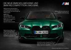 Die neue BMW M3 Competition Limousine (09/2020).