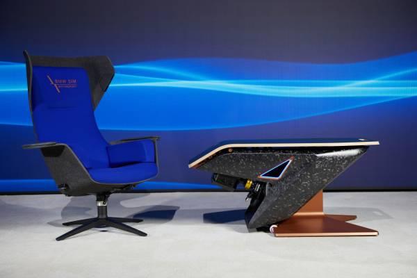 Munich (GER), 5th December 2020. BMW SIM Live, event, show, Fusion SL Concept, Sedus, BMW Designworks, design table, sim rig, Wooom Chair.