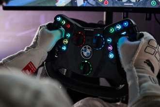 Munich (GER), 5th December 2020. BMW SIM Live, event, show, BMW M4 GT3, Fanatec, steering wheel.