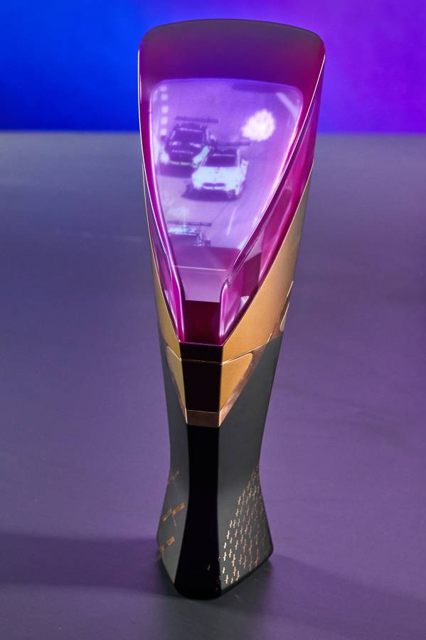 Munich (GER), 5th December 2020. BMW SIM Live, event, show, BMW Welt, BMW SIM 120 Cup, multimedia  trophy.
