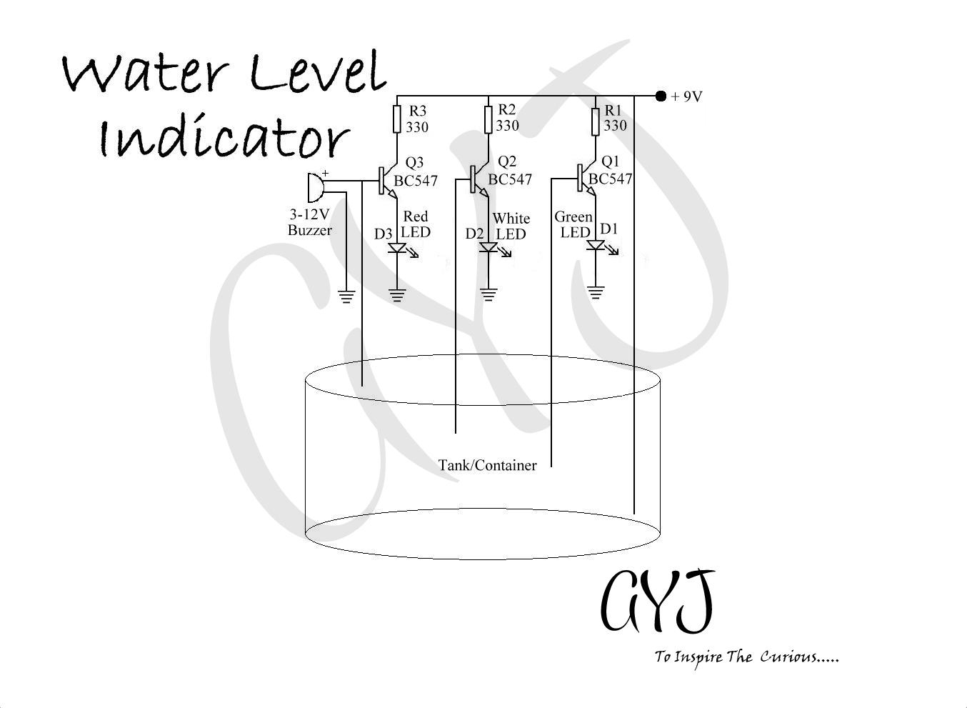 Water Level Indicator Circuit Diagram