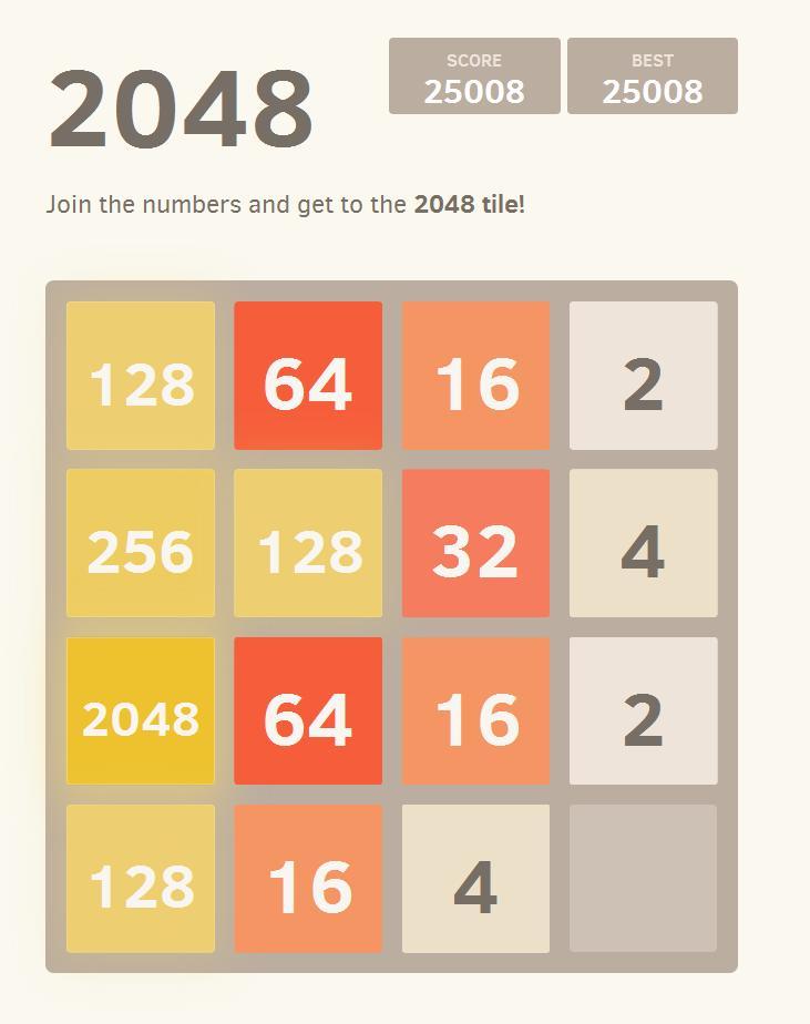 2048: El nuevo juego-droga de Internet