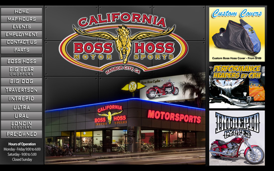 California Boss Hoss – Website