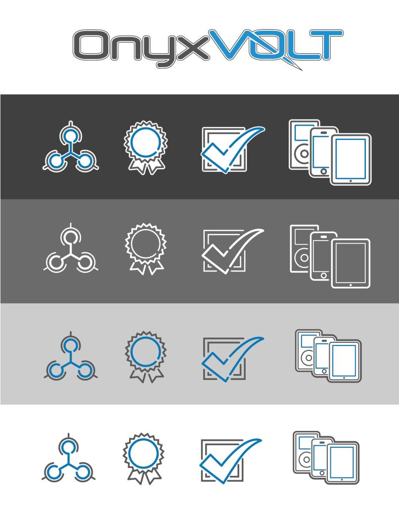 Onyx Volt, Icon Set, Identity, iphone, communication, advertising, multi-media