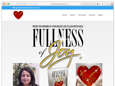 Fullness of Joy – Book Promotion Website