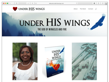 Under His Wings – Book Promotion Website