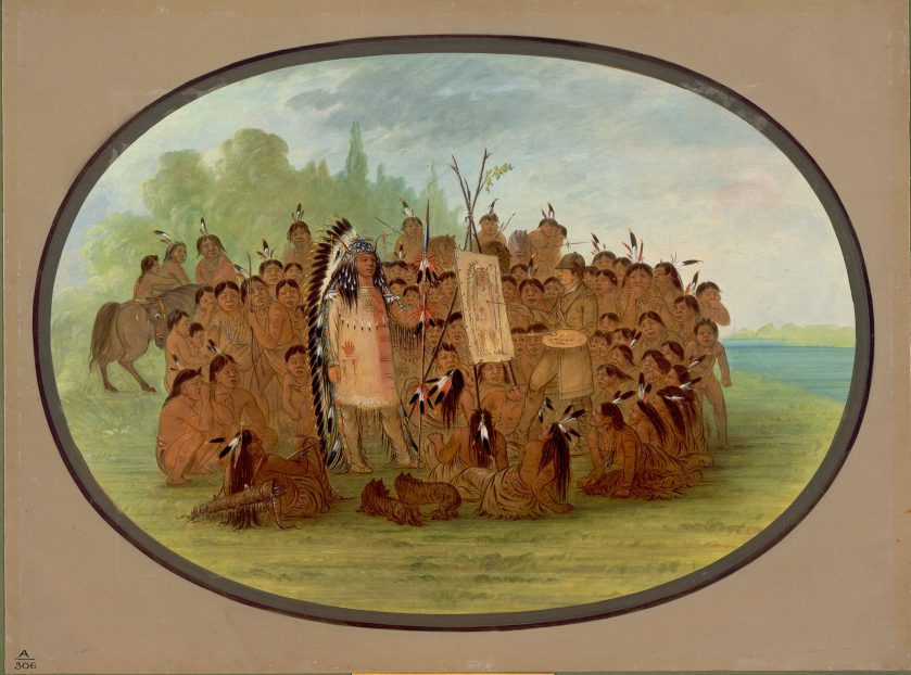 Catlin Painting the Portrait of Mah-to-toh-pa—Mandan, George Catlin (1861/1869)