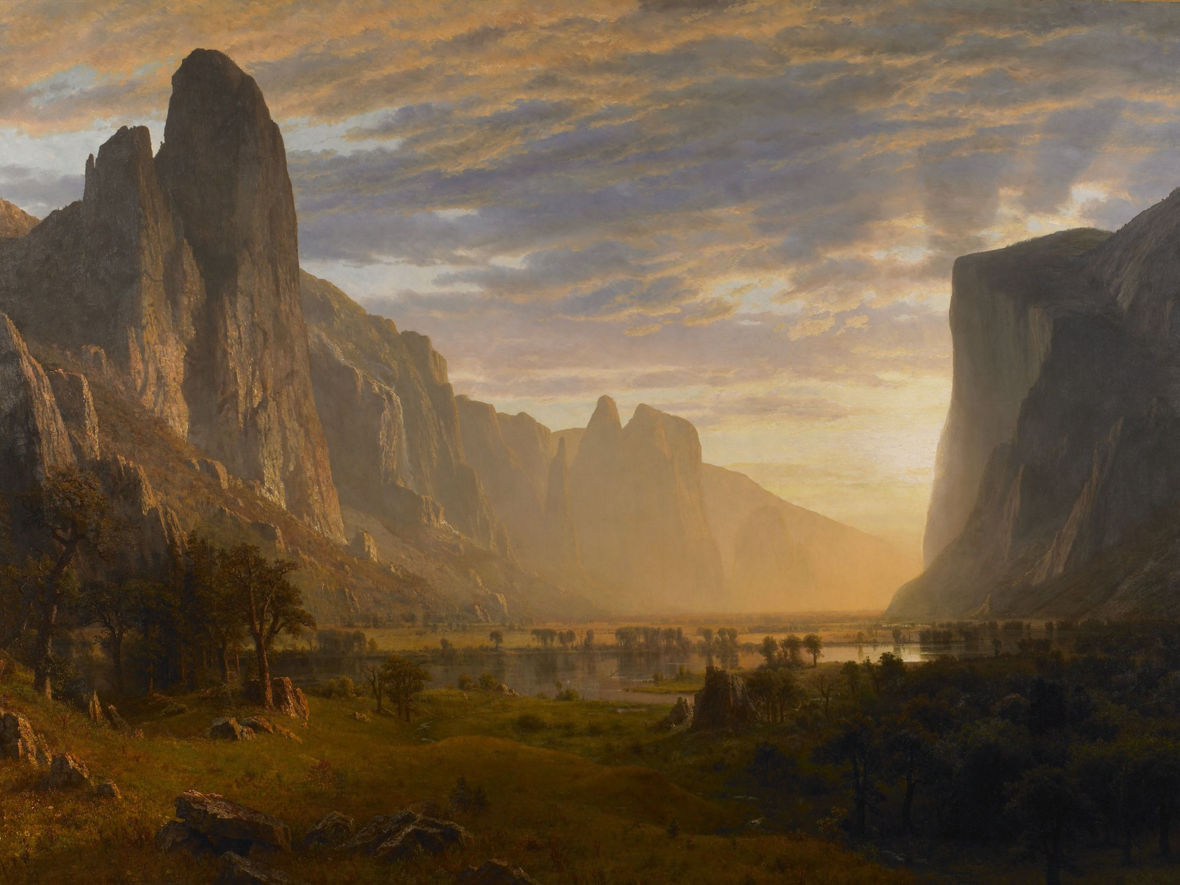 Looking Down Yosemite Valley, California, Albert Bierstadt (1865)