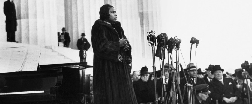 Marian Anderson at the Lincoln Memorial, 1939