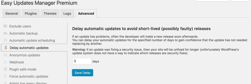 EUM - Delaying Updates