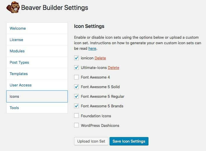 Add Icon Set to Beaver Builder