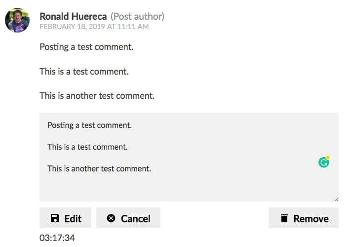 Light Theme for Simple Comment Editing Options