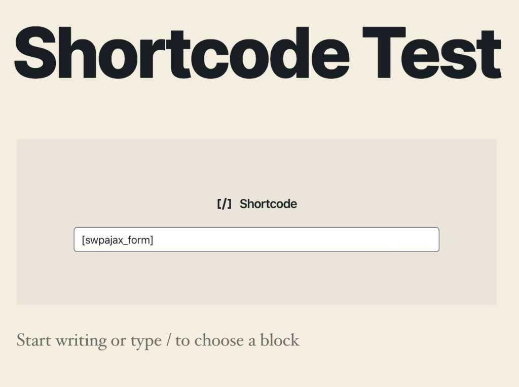 guternberg shortcode input
