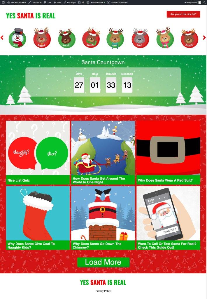 Yes Santa is Real Website